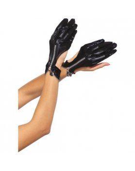 leg avenue guantes de moto con cremallera
