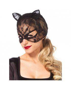 leg avenue mascara de gato de encaje VIBRASHOP