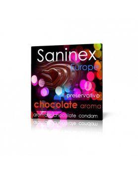 PRESERVATIVOS CHOCOLATE LISO SANINEX