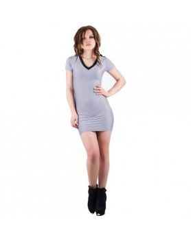 purpura concept vestido vichy gris