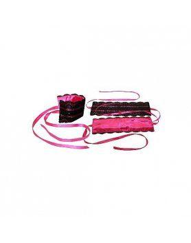 kit ataduras de lazo rosa VIBRASHOP