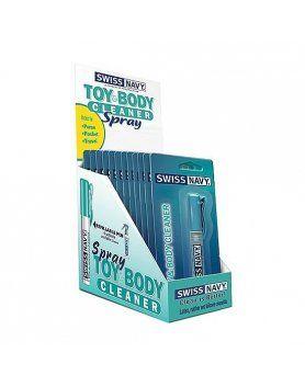 swiss navy boli limpiador de cuerpo y juguetes 12 unidades