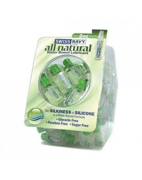 LUBRICANTES SWISS NAVY - PACK NATURAL LUBRICANT WATER BASE