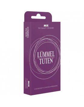 display 10 cajas preservativos lummel tuten surtidos