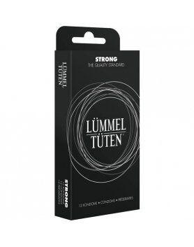 display 10 cajas preservativos lummel tuten extra fuertes
