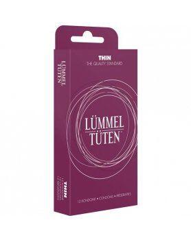 display 10 cajas preservativos lummel tuten extrafinos