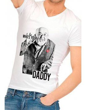 camiseta divertida who is your daddy VIBRASHOP