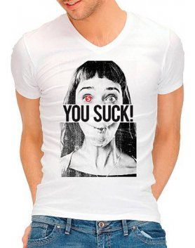 camiseta divertida you suck VIBRASHOP