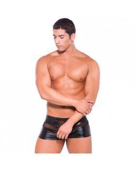 zeus peek a boo shorts efecto mojado negro