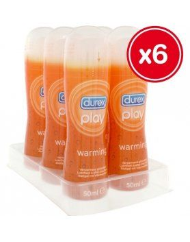 LUBRICANTES FEMENINOS DUREX PLAY WARMING 50 ML (6 UDS) VIBRASHOP