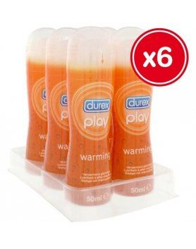 LUBRICANTE FEMENINOS DUREX PLAY WARMING 50ML (6 UDS) VIBRASHOP