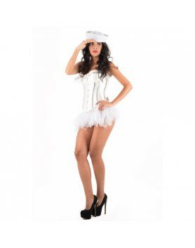 picaresque disfraz blouse iris blanco VIBRASHOP