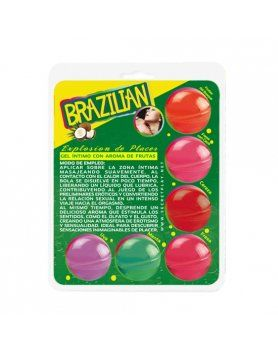 secret play brazilian balls variadas gel intimo aroma frutas VIBRASHOP