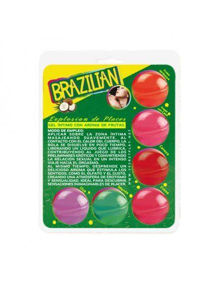 secret play brazilian balls variadas gel intimo aroma frutas VIBRASHOP