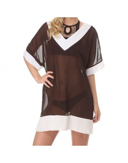 vestido gorgona marrón VIBRASHOP