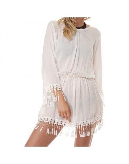 vestido cirella blanco VIBRASHOP