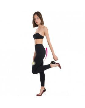 LEGGINGS PUSH UP COSMeTICO TEXTIL COLOR NEGRO VIBRASHOP