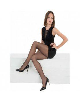 PANTY LICRA RELAX 30 DEN LOTE DE 2 COLOR NEGRO VIBRASHOP