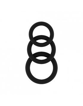 ANILLOS PARA EL PENE SONO – NO.24 - COCKRING SET - BLACK VIBRASHOP