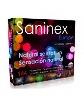 SANINEX PRESERVATIVOS SENSACION NATURAL 144 UDS