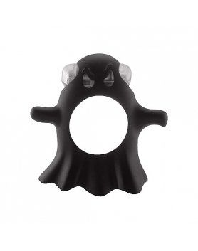ANILLOS PARA EL PENE S-LINE – GENTLE GHOST COCKRING BLACK VIBRASHOP