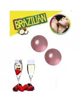 SET 2 BRAZILIAN BALLS AROMA FRESA CAVA VIBRASHOP