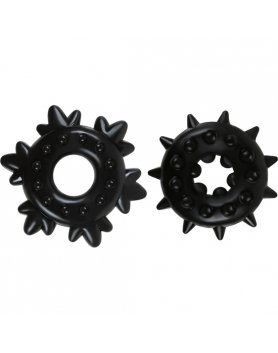 ANILLOS PARA EL PENE RENEGADE - SPIKE RINGS BLACK VIBRASHOP