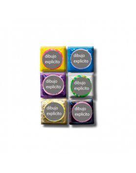 bote de preservativos con posturas 50 uds VIBRASHOP