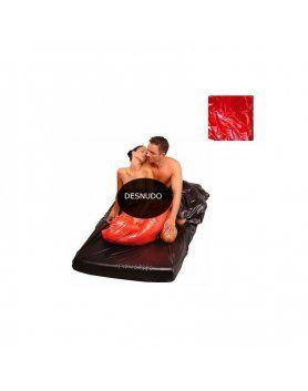 sábana roja de plástico