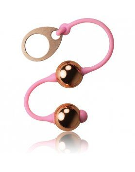 BOLAS CHINAS ROSA GOLDEN ROCKS -OFF VIBRASHOP