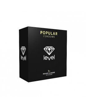 PRESERVATIVOS LEVEL POPULAR CONDOMS 5UDS