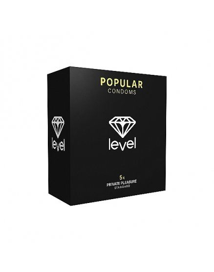 PRESERVATIVOS LEVEL POPULAR CONDOMS 5UDS VIBRASHOP