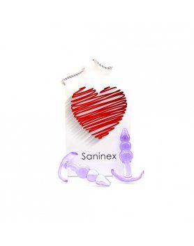 PLUG ANAL 3D PLEASURE SANINEX  VIBRASHOP