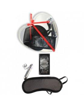 Kit para parejas secret moments kit strong love negro Vibrashop