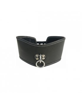 Collar bondage edge soft leather posture collar Vibrashop