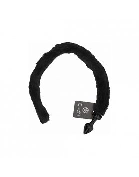 Plug con cola ouch kitty tail negro Vibrashop
