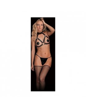 CHARA - BEAUTIFUL BREAST HARNESS - NEGRO VIBRASHOP