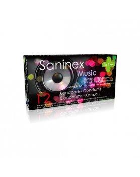 SANINEX PRESERVATIVOS MUSIC PUNTEADOS 12UDS VIBRASHOP