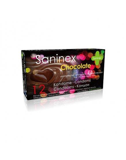 SANINEX PRESERVATIVOS CHOCOLATE 12UDS VIBRASHOP