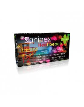 SANINEX PRESERVATIVOS HEAT BEACH 12UDS VIBRASHOP