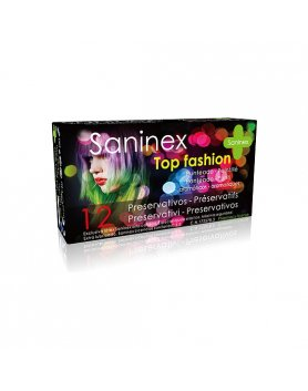 SANINEX PRESERVATIVOS TOP FASHION PUNTEADO 12UDS VIBRASHOP