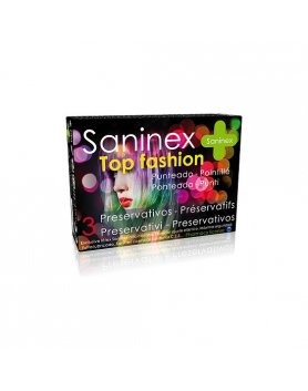 Preservativos Saninex Top Fashion Punteado 3uds Vibrashop