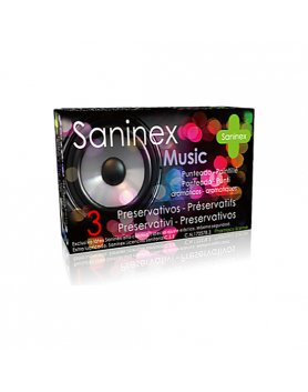 SANINEX PRESERVATIVOS MUSIC PUNTEADO 3UDS VIBRASHOP