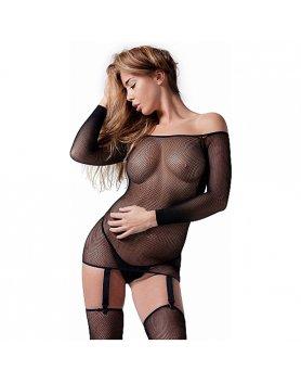 SEXY BODY DE MALLA CON HOMBROS DESCUBIERTOS VIBRASHOP