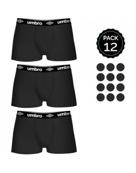 SET 12 BOXERS UMBRO NEGRO VIBRASHOP