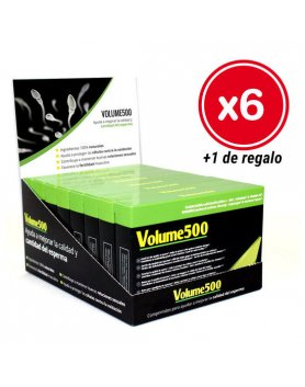 VOLUME 500 30 CÁPSULAS - PACK 6 CAJAS + 1 DE REGALO VIBRASHOP
