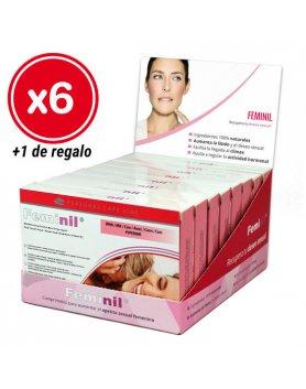 FEMINIL 30 CÁPSULAS - PACK 6 CAJAS + 1 DE REGALO VIBRASHOP