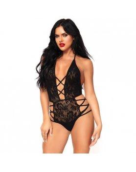 Body lingerie strappy halter negro Vibrashop