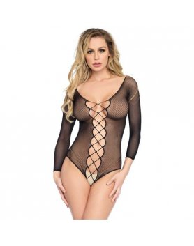 Body lingerie teddy fishnet negro Vibrashop