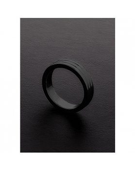 GOLDEN BLACK RIBBED C-RING (10X45MM) VIBRASHOP